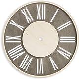 Darice DIY Unnumbered Distressed Wood Square Clock Face