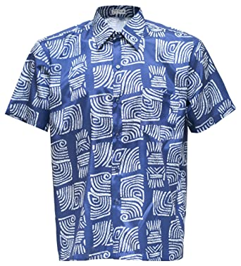 0db439fcc2e navasilk Men s Shirt Short Sleeve Thai Silk Patterned Spiral at Amazon  Men s Clothing store