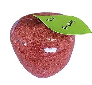 4 Pack - Apple Bath Bombs - Large Bath Bomb Fizzies - Teacher Gifts - Teacher Appreciation Gift - Back to School Teacher Gift - Christmas and Birthday Gift for Teachers - Teacher Gifts for Women - Te