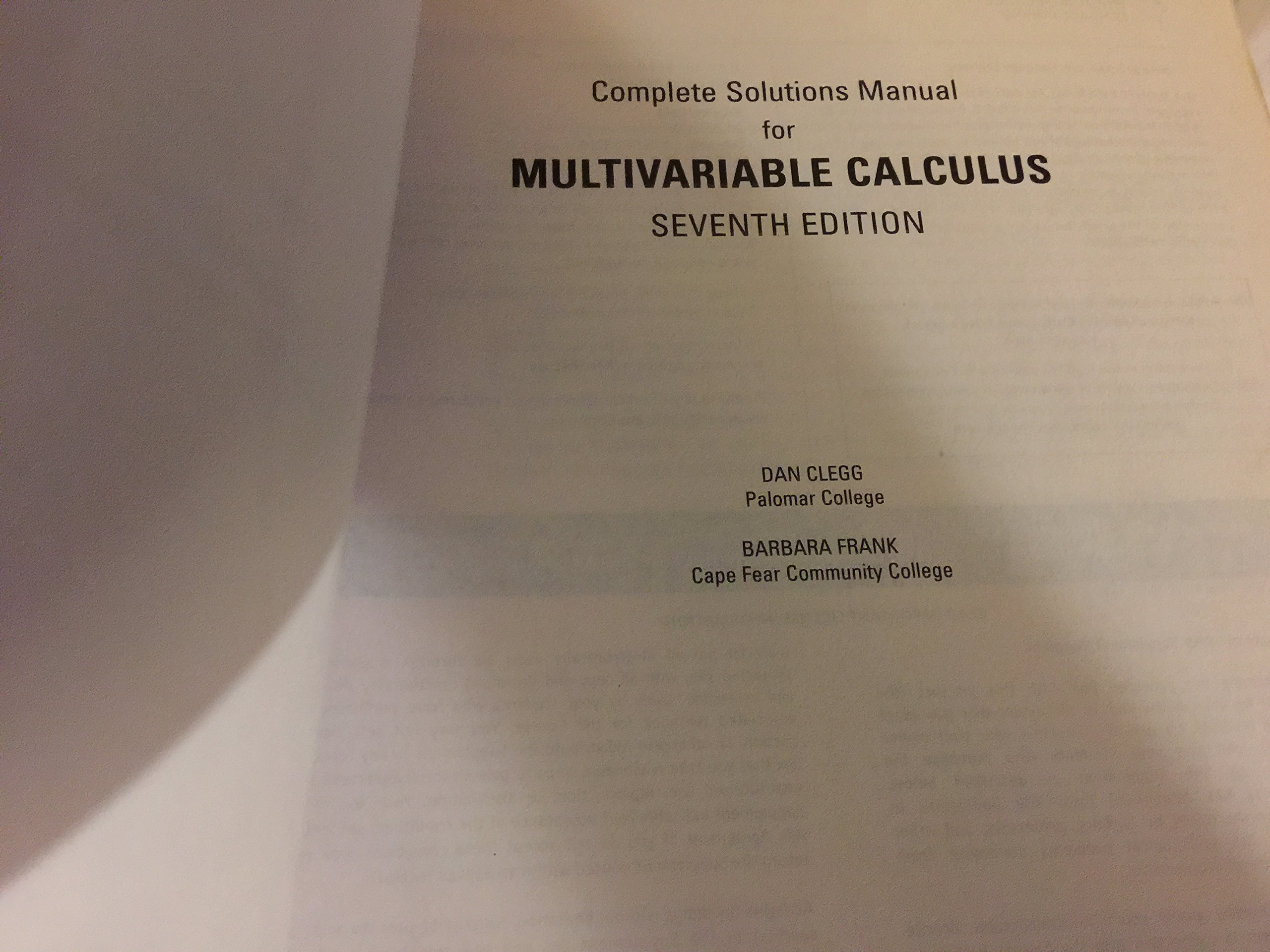 COMPLETE Solutions Manual for Multivariable Calculus, 7th Edition by James  Stewart: James Stewart: 9780328693566: Amazon.com: Books
