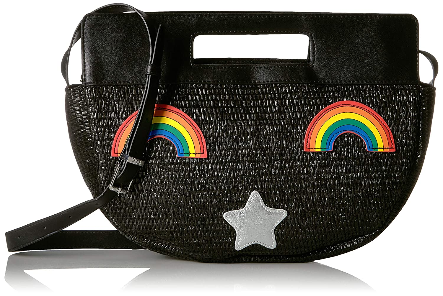 Rainbow Black Circus by Sam Edelman Darla Half Moon Satchel