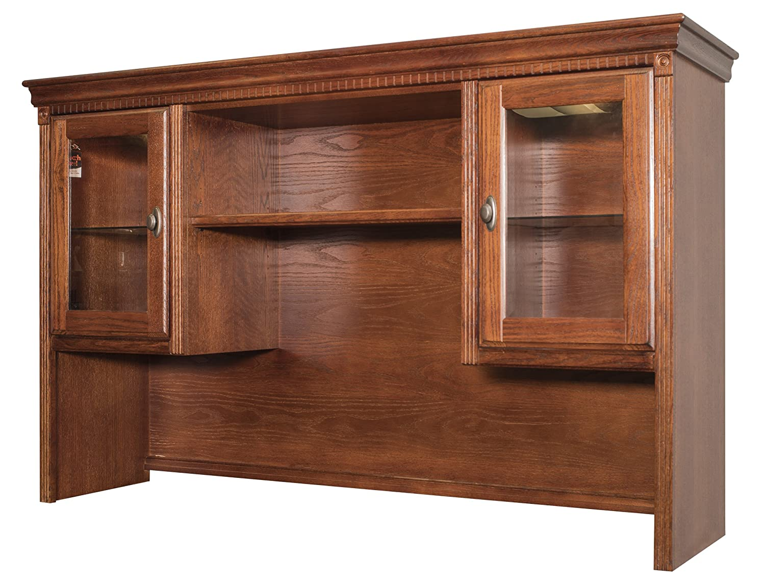 Kathy Ireland Home By Martin Huntington Oxford Storage Hutch - Burnish Finish - Fully Assembled