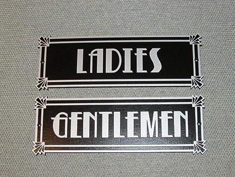 amazon com art deco style silver and black ladies gentlemen