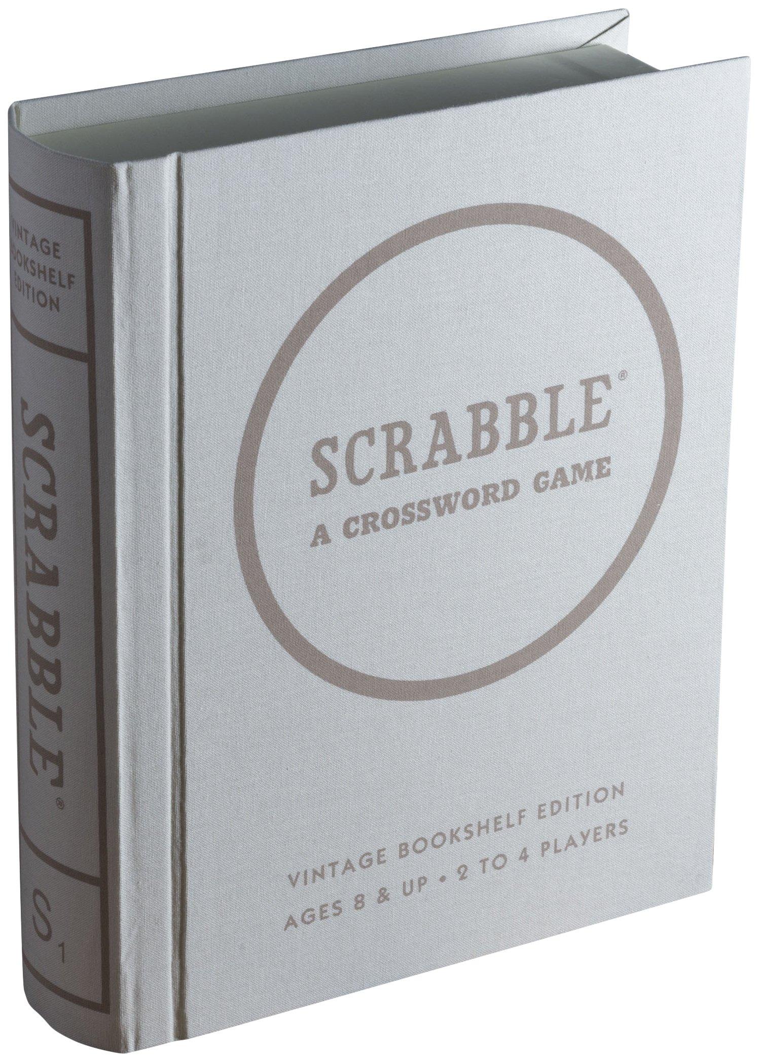 Scrabble Linen Vintage Bookshelf Edition