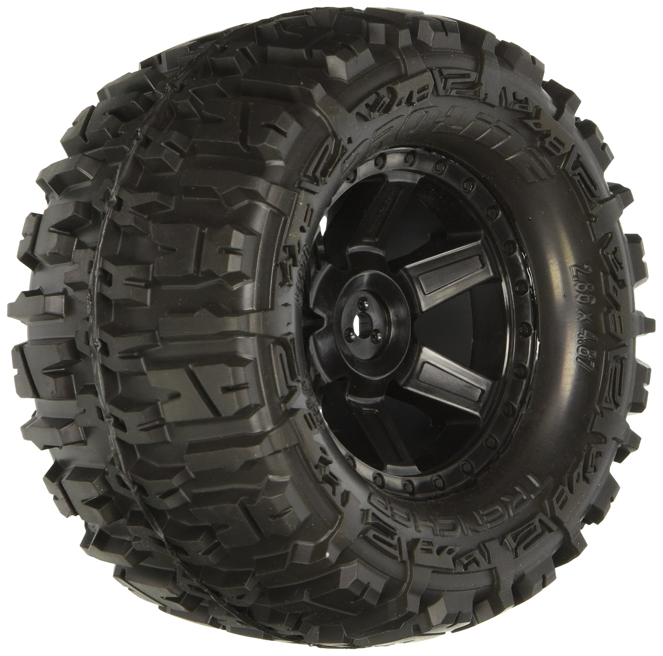 Proline 117013 Trencher 2.8'' All Terrain Tires Mounted for Electric Stampede/Rustler, Pair