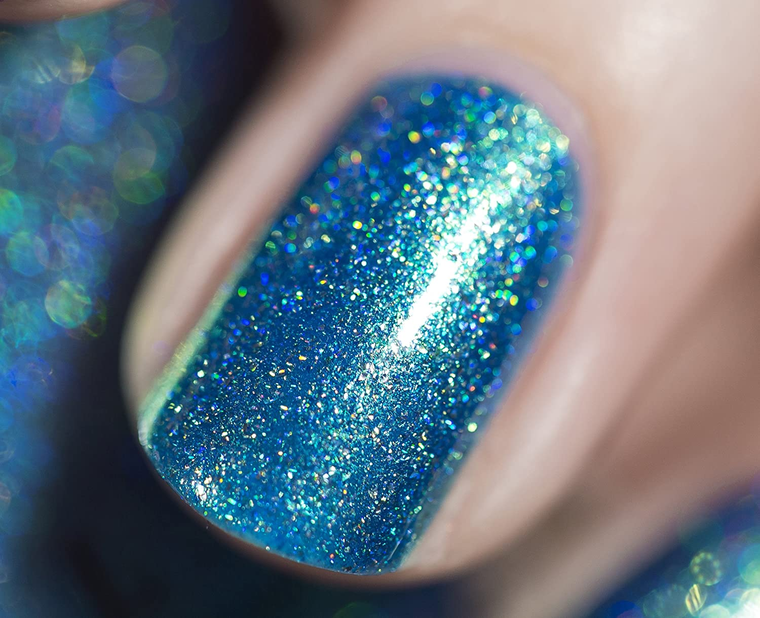 Amazon.com : ILNP High Tide - Bright Blue Green Holographic Nail ...