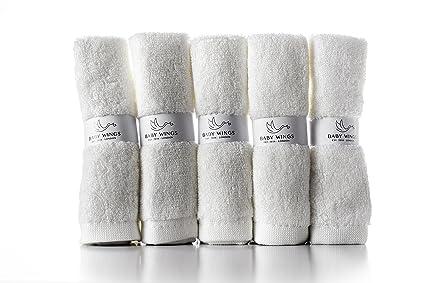 100% orgánicos bambú bebé toallas toallitas – Juego de 5 toallas de bambú de respetuoso