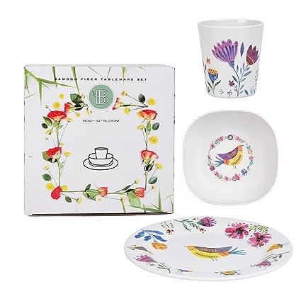 Amazon.com: Boo In Bloom - Juego de vajilla para niños y ...