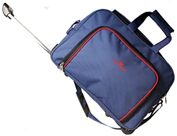 56d294d47 Image Unavailable. Image not available for. Colour: Wildmount Blue Solid  Trolley Duffle Bag