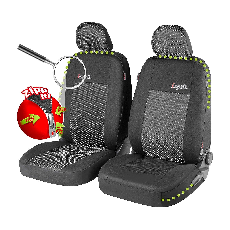 Walser 11848 Zipp IT Premium Esprit Autositzbez/üge f/ür Vordersitze mit Rei/ßverschluss System