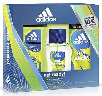 87030a476d9628 adidas Get ready for him Eau de Toilette + Deodorant Body Spray + Shower  Gel +