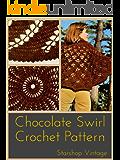 Chocolate Swirl: Vintage 1970s Crochet Circular Shawl Pattern