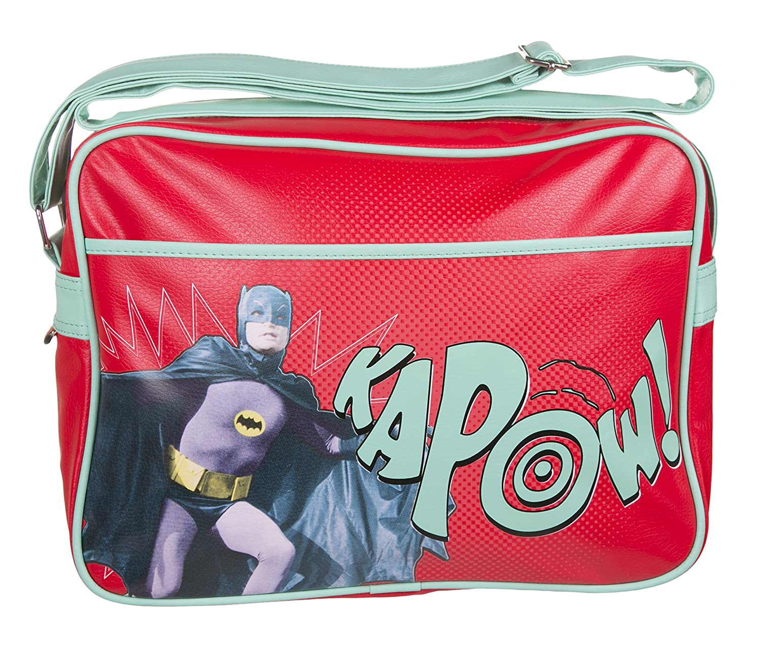 Red Batman Kapow Retro Messenger Bag Half Moon Bay