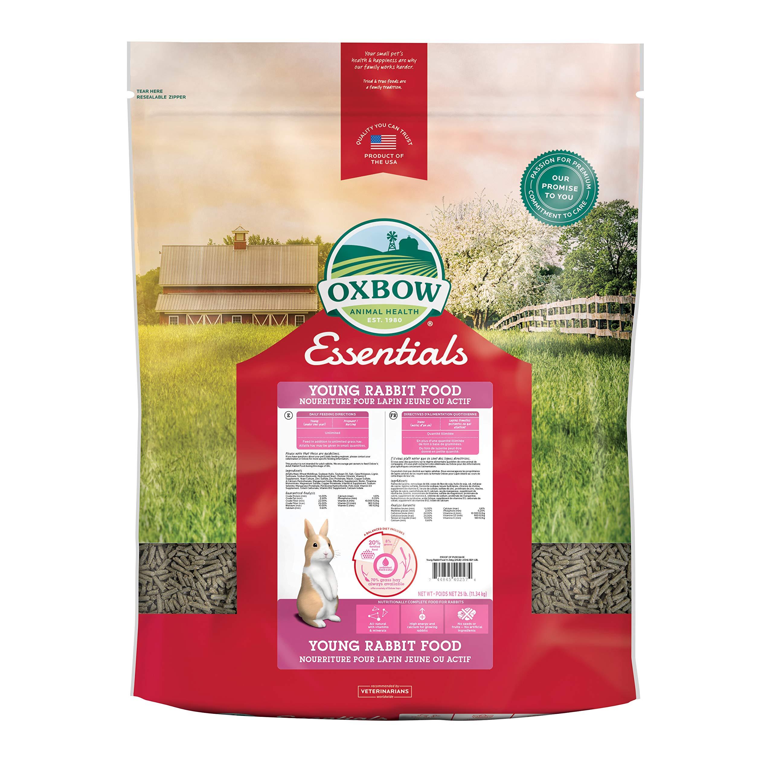 Oxbow Animal Health Bunny Basics Essentials Young Rabbit Food, 25-Pound by Oxbow Animal Health