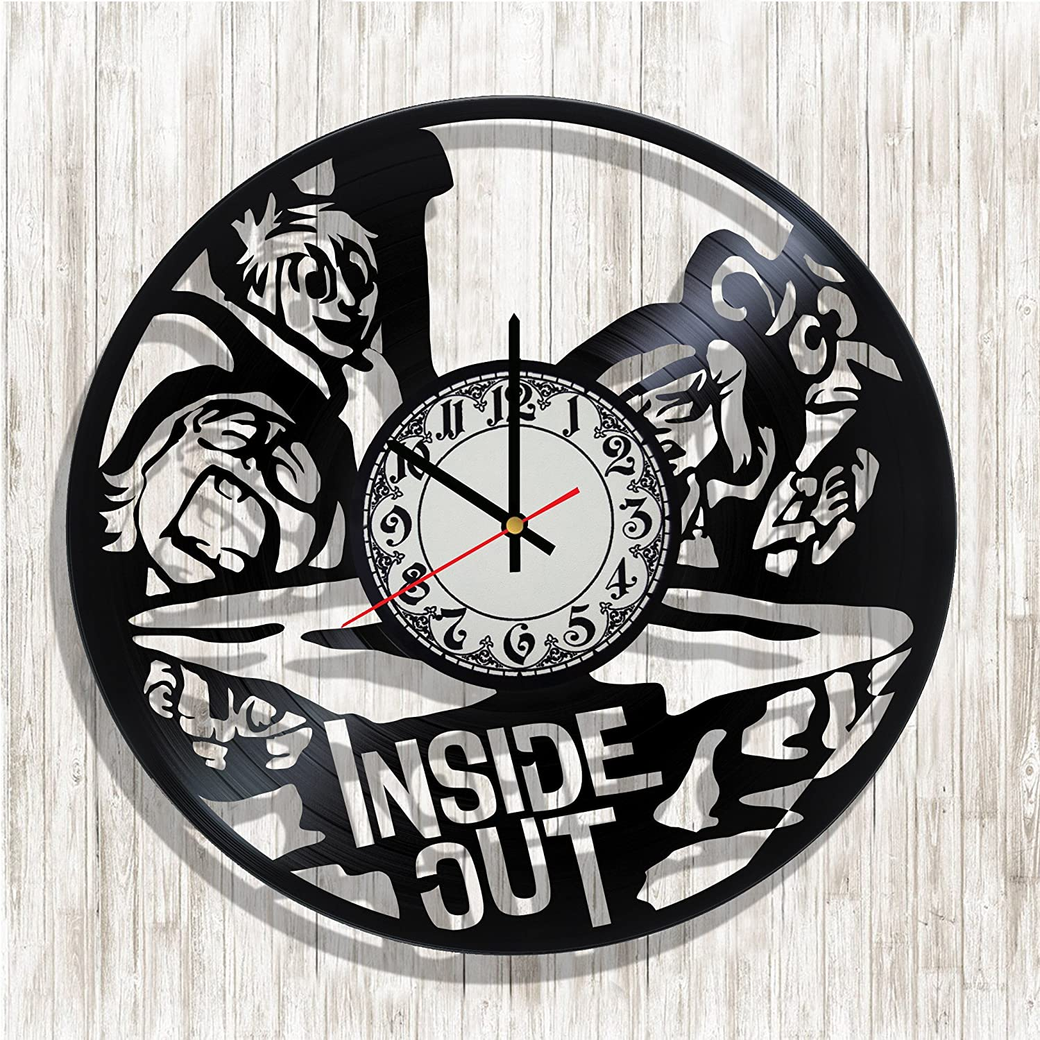 Amazon Com Design Wall Clock Inside Out Made From Real Vinyl Record Inside Out Decal Inside Out Poster Best Gift For Inside Out Fans Design Art Wall Decor Home Kitchen