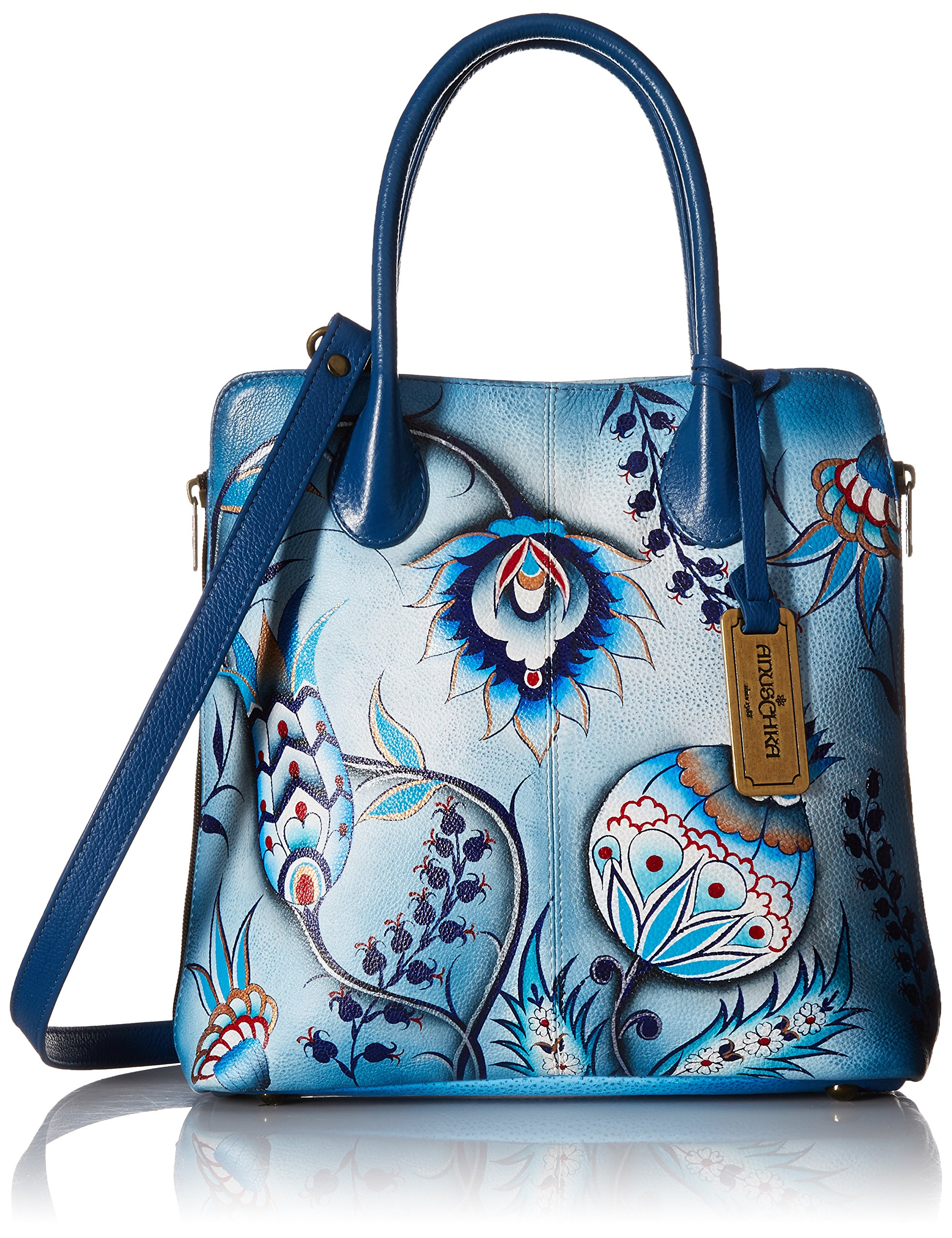 Anuschka Medium Expandable Convertible Tote Bewitching Blues, Bwb/Bewitching Blues