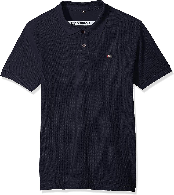 Men/'s Southpole Polo Shirt Striped Royal  Size XL  New