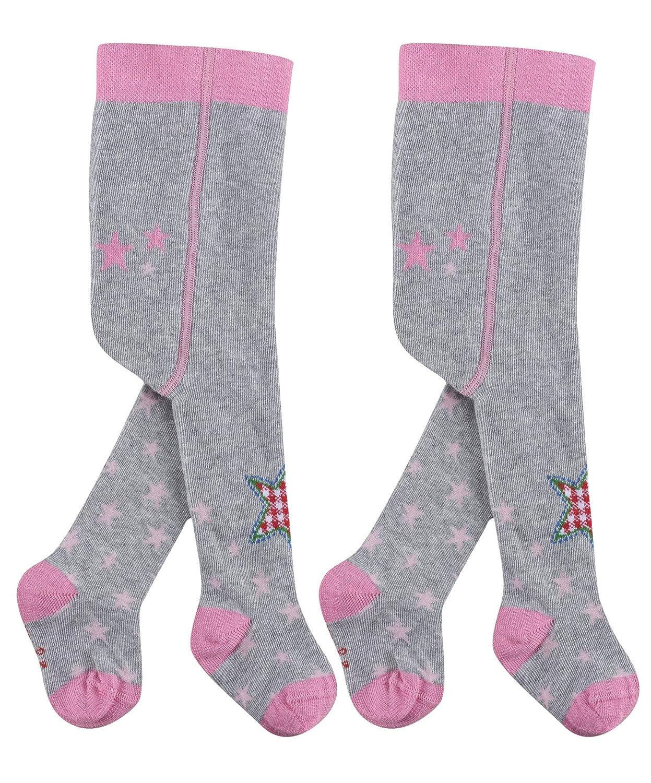 BabyGl/ück 2er Pack KinderStrumpfhose mit liebevollem Motiv babyblue oder rosa Baby