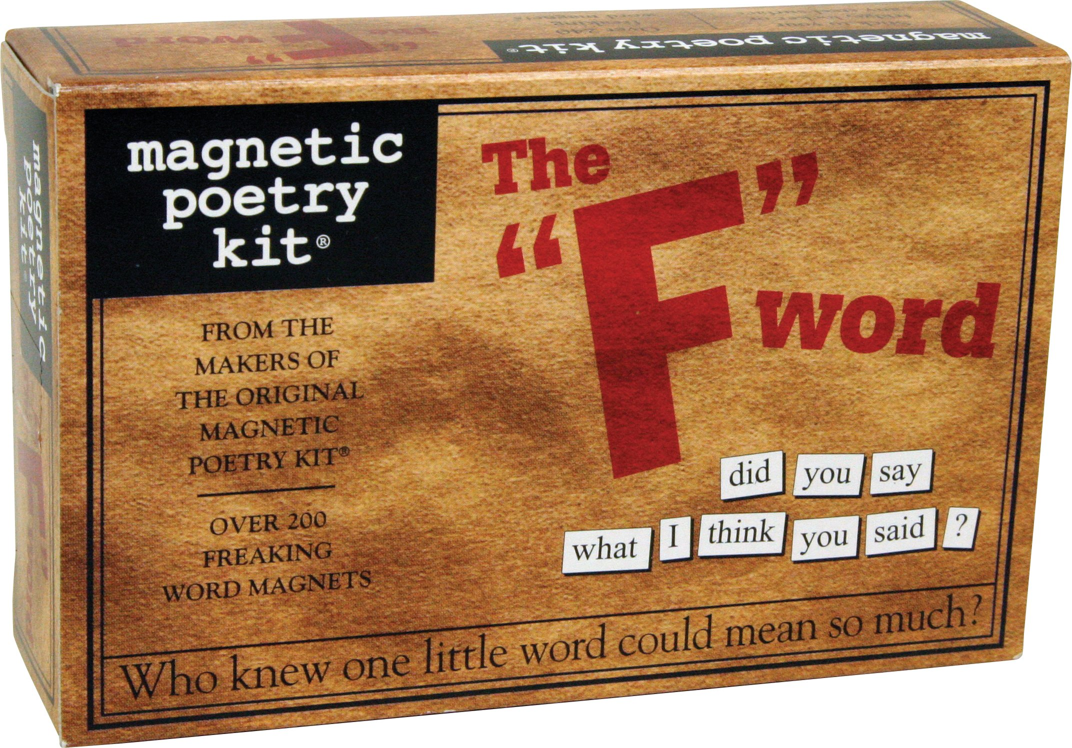 Magnetic Poetry - F Word Kit - Words for Refrigerator - Write Poems and Letters on the Fridge - Made in the USA by Magnetic Poetry