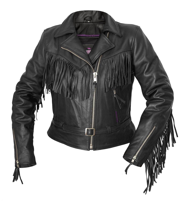 Leather jacket yahoo answers - Amazon Com Interstate Leather Ladies Fringe Jacket Black Small Automotive