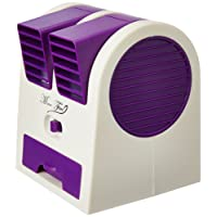 One Stop Bazaar 5G Gold 5G Gold Numex Nu063 Mini Small Cooling Portable Desktop Dual Bladeless Fan