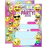 Emoji Party Invitations Girl Birthday Invites Emojional20 Fill In Style