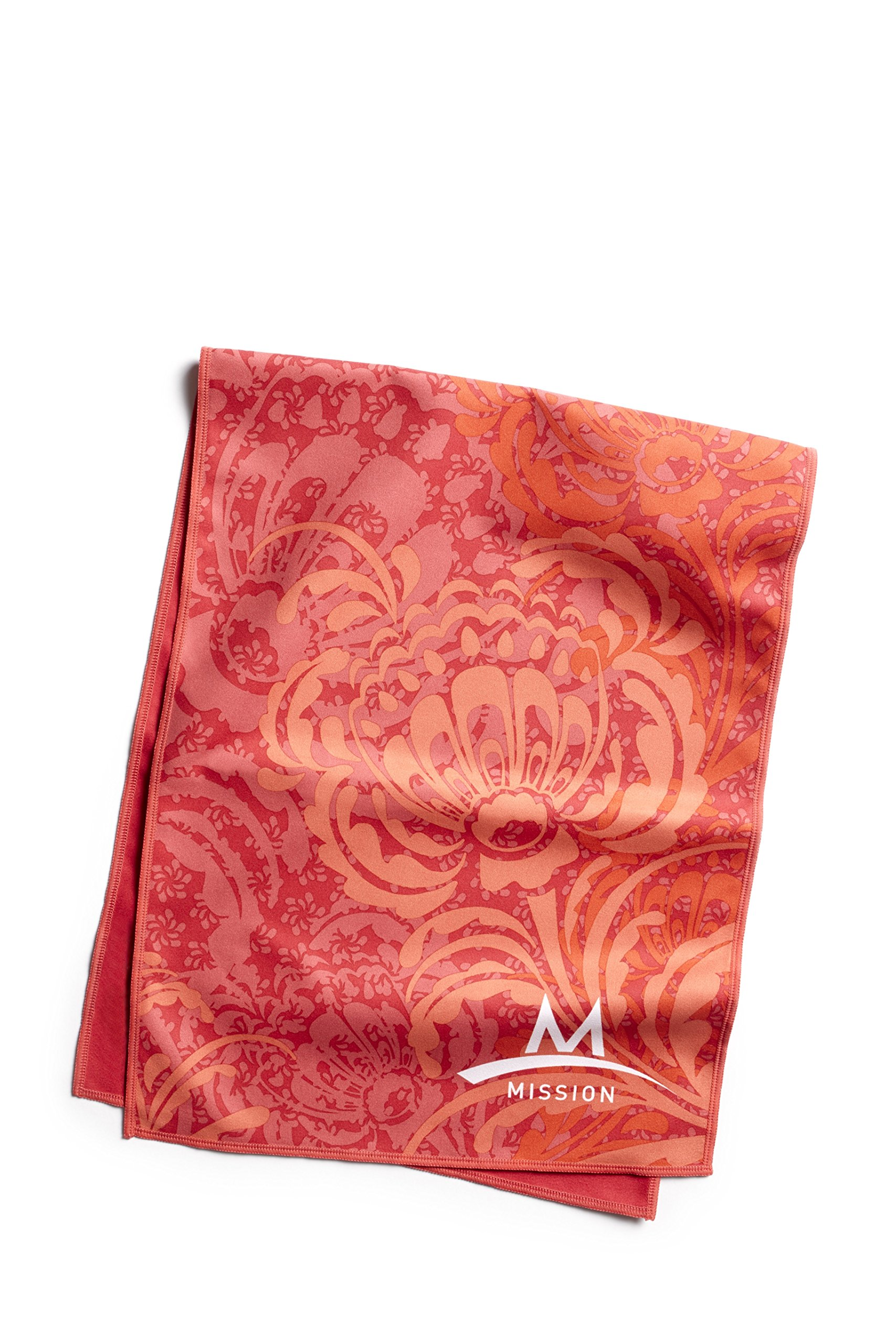 Mission Enduracool Microfiber Cooling Towel, Peony Coral, Large by Mission