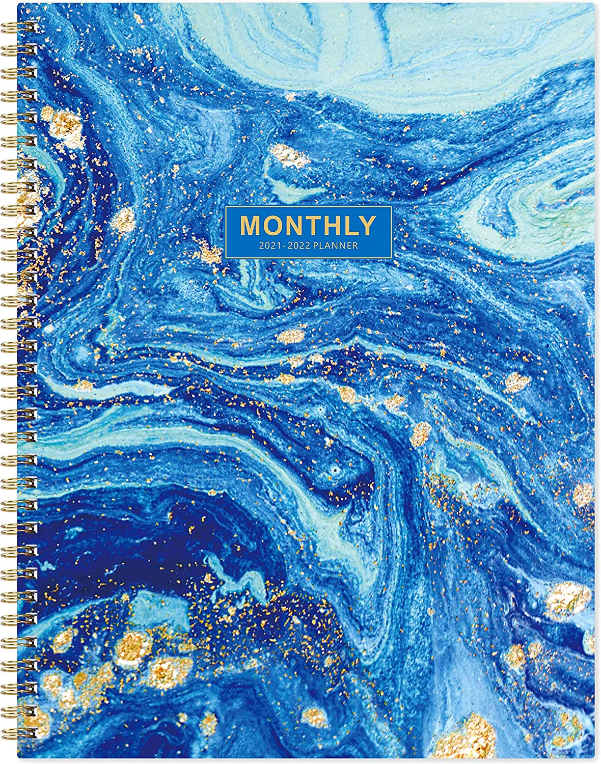 2021-2022 Monthly Planner/Calendar - 18 Month Planner with Tabs & 13 Note Pages, 9
