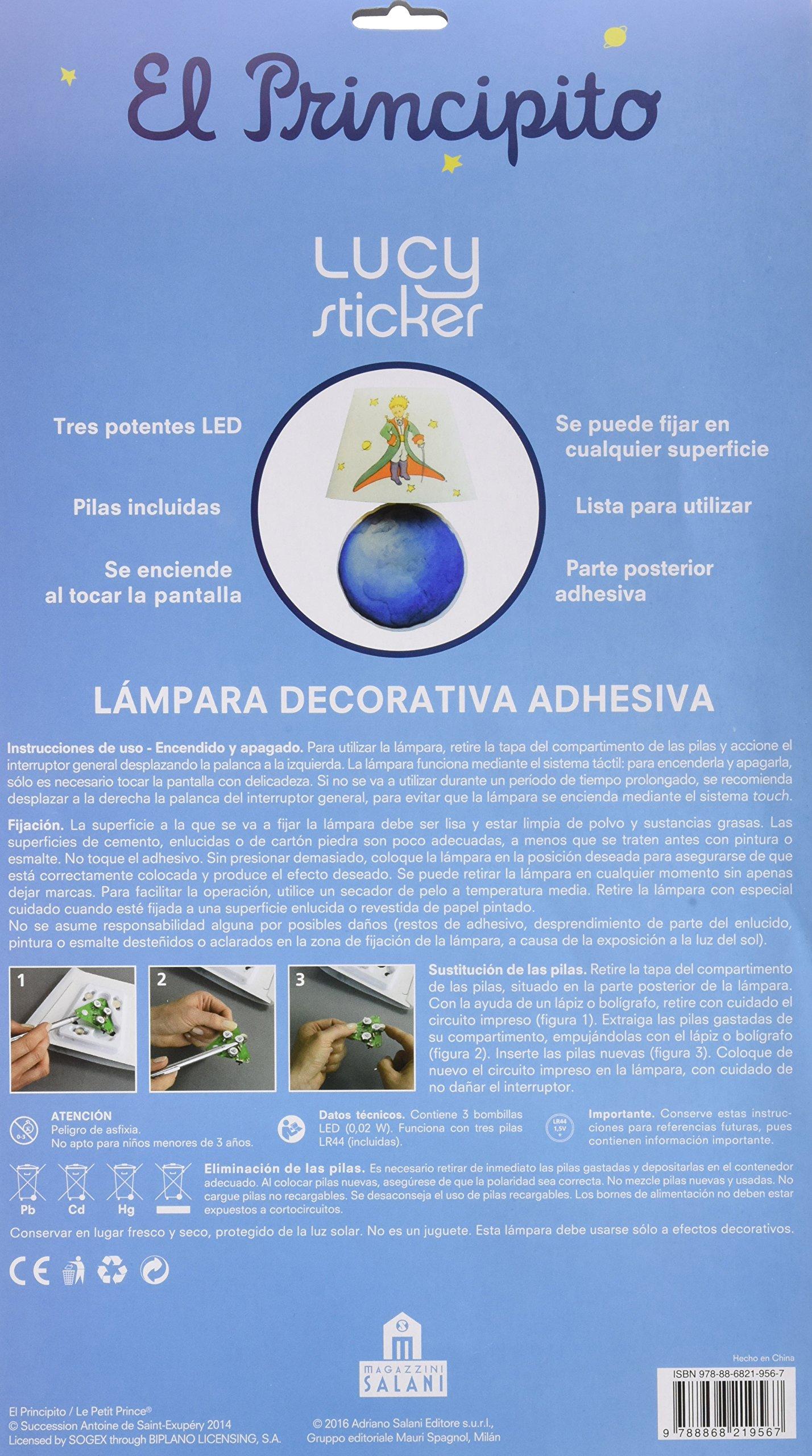 Lámpara adhesiva el principito: Antoine De Saint-exupery: 9788868219567: Amazon.com: Books