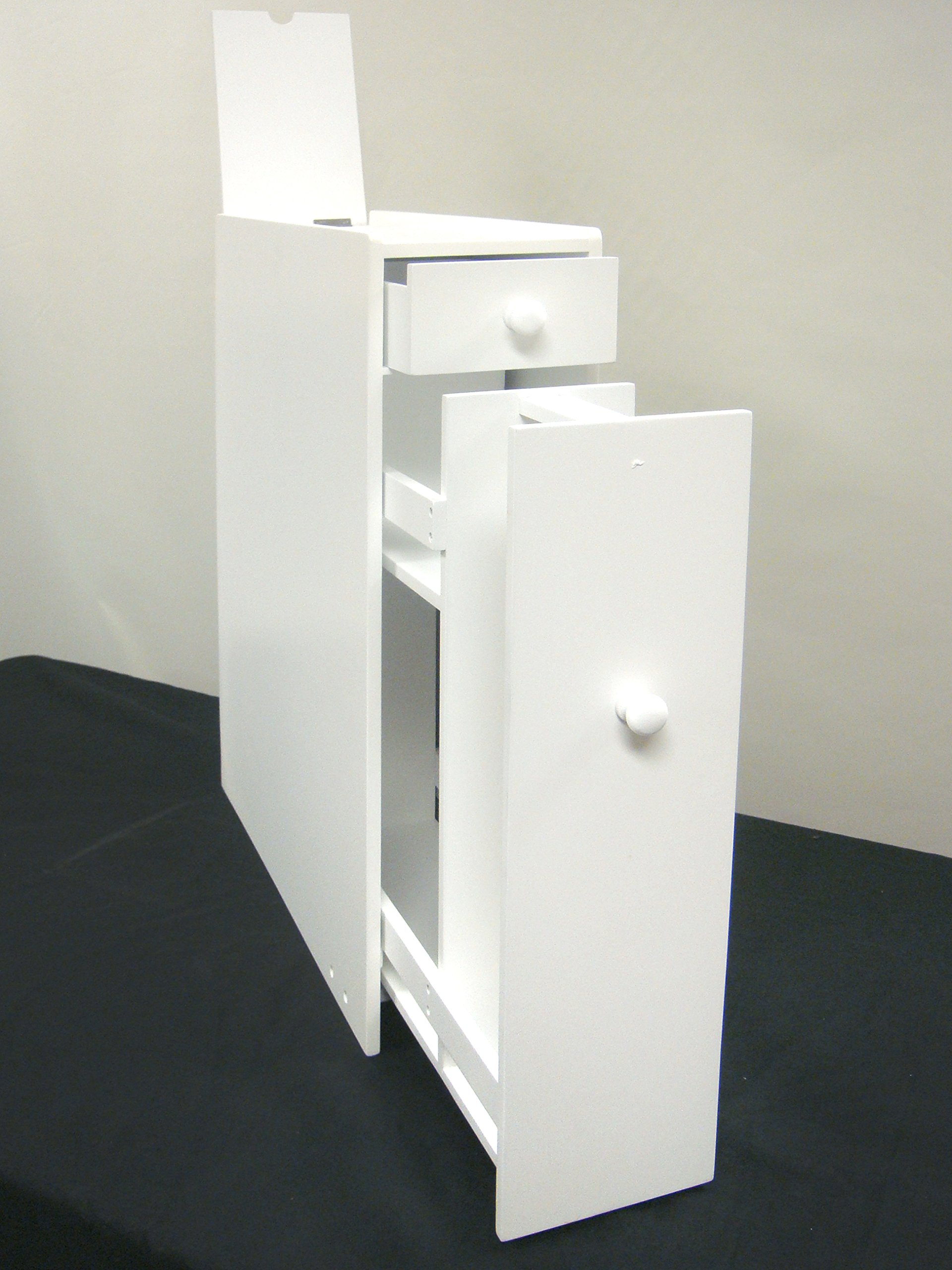Proman Products Bathroom Floor Cabinet Wood in Pure White by Proman Products (Image #6)