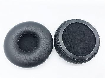 Almohadillas Redondas de Repuesto para Auriculares Jabra Revo DE 72 mm, de proteína, Color Negro: Amazon.es: Electrónica