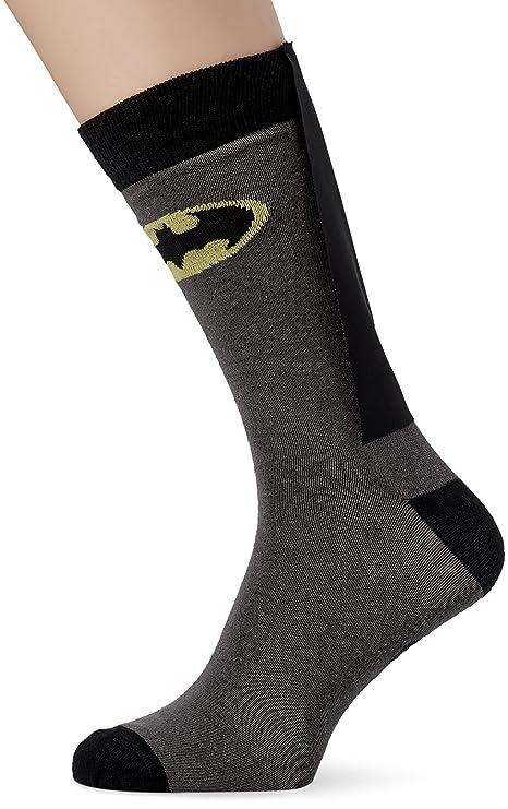 DC Comics - Calcetines para disfraz de adulto con diseño Batman, talla 43-46