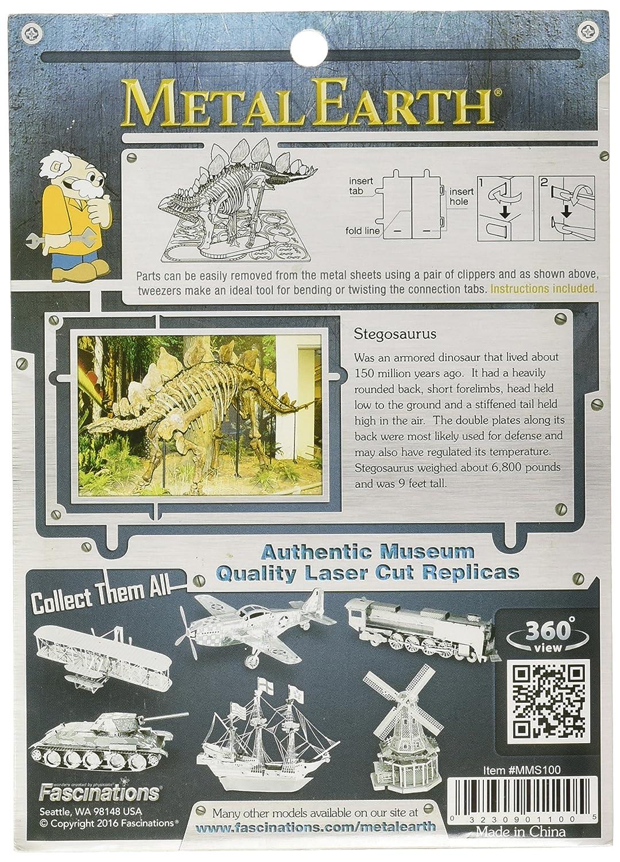 Fascinations Metal Earth Stegosaurus Skeleton 3D Metal Model Kit