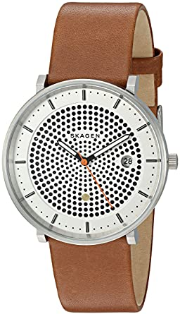 c4128d92c63 Image Unavailable. Image not available for. Color  Skagen Men s SKW6277  Hald Dark Brown Leather Watch