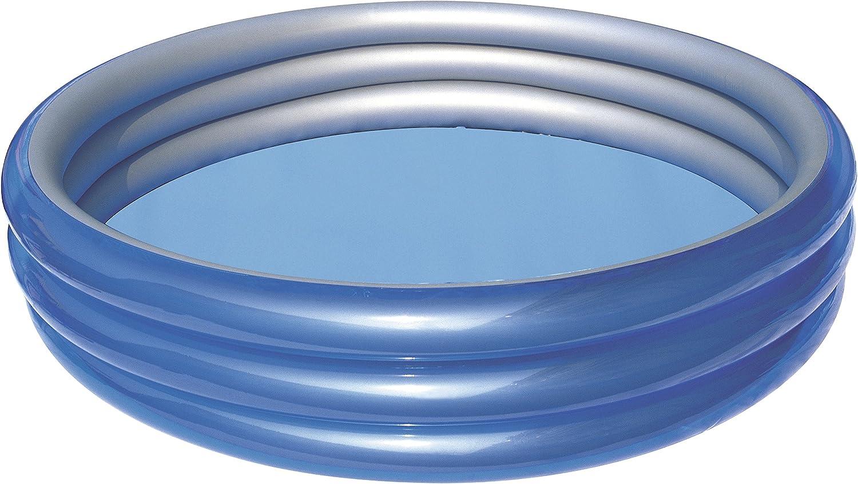 Bestway - Piscina Inflable Redonda 250x53 cm: Bestway 51044B - Planschbecken 249 x 53 cm - Big Metallic 3-Ring Pool: Amazon.es: Deportes y aire libre