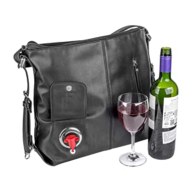 Amazon.com: Lush Lyfe - Monedero de vino convertible con ...