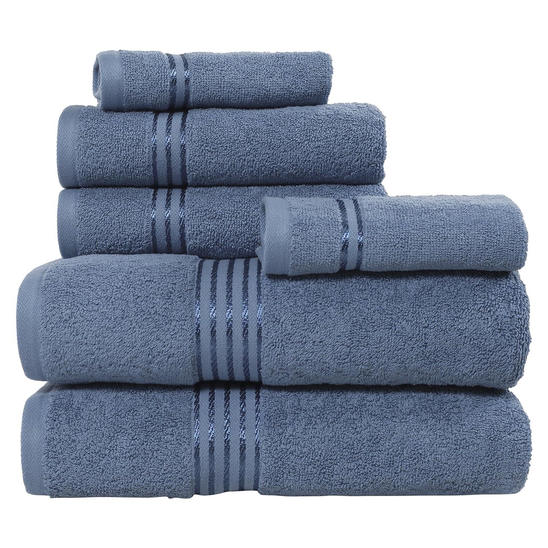 Lavish Home 100 Percent Cotton Hotel 6 Piece Towel Set - Brick 67-0016-BRI