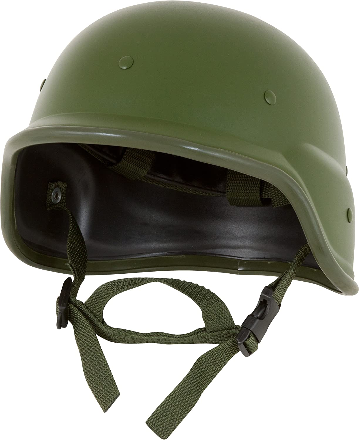 Image of the Modern Warrior Tactical M88 ABS Helmet in green color with Adjustable Chin Strap.