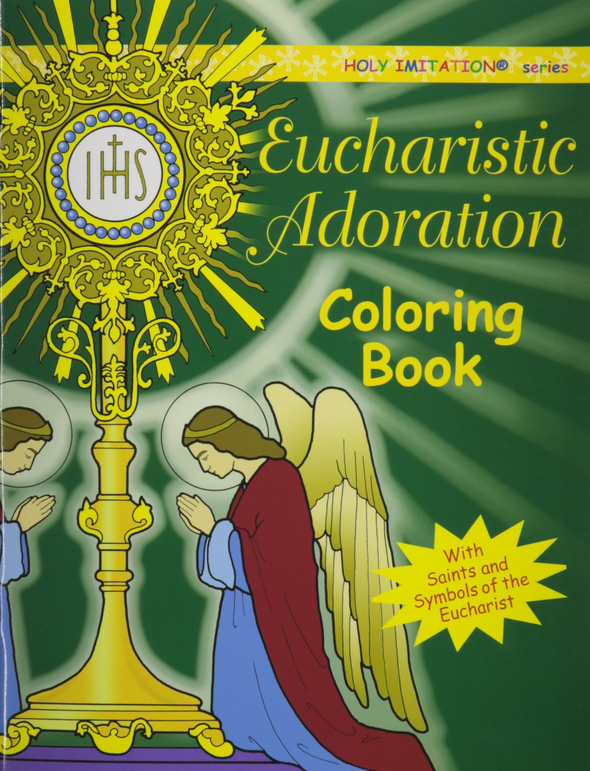 Eucharistic Adoration With Saints And Symbols Of The Eucharist