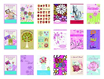 Amazon b there assorted friendship thinking of you for best b there assorted friendship thinking of you for best friend greeting cards box m4hsunfo