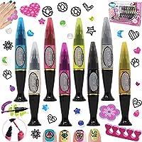 JOYIN 200 Pieces Nail Art Polish Pens Kit Salon 0.34 Oz. Nail Pens for Girls Beauty Toys, Easy Nails SPA Kit, Girl Nail Polish Set, Party Favor, Carnival Prizes, Pinata Toy, Classroom Rewards.