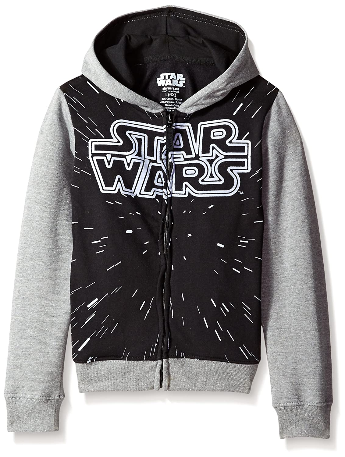Star Wars Girls French Terry Zip-Front Hoodie Sweatshirt