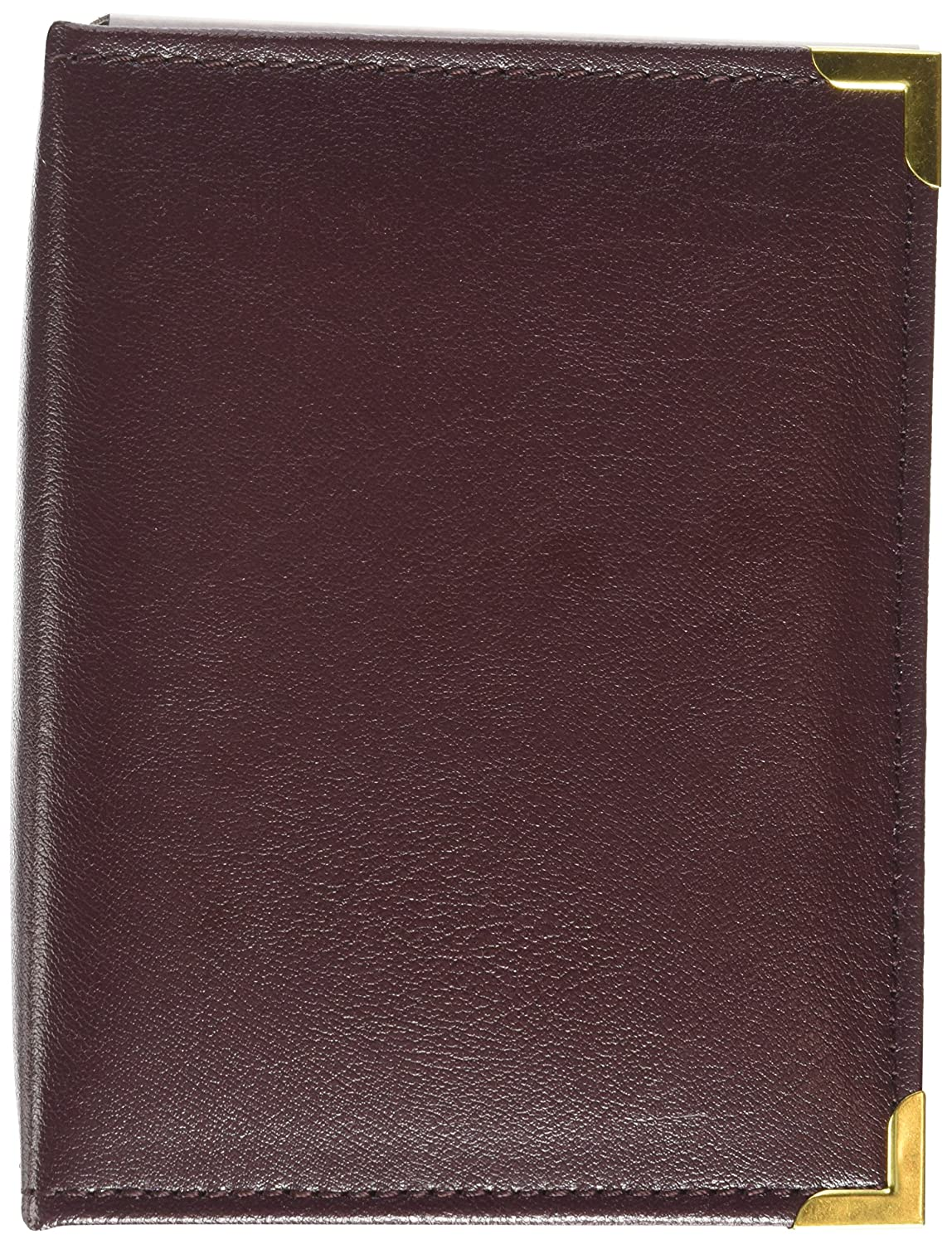 Pioneer 100 Pocket Burgundy Sewn Leatherette Cover with Brass Corner Accents Photo Album, 4 by 6-Inch Pioneer Photo Albums E4-100/BG