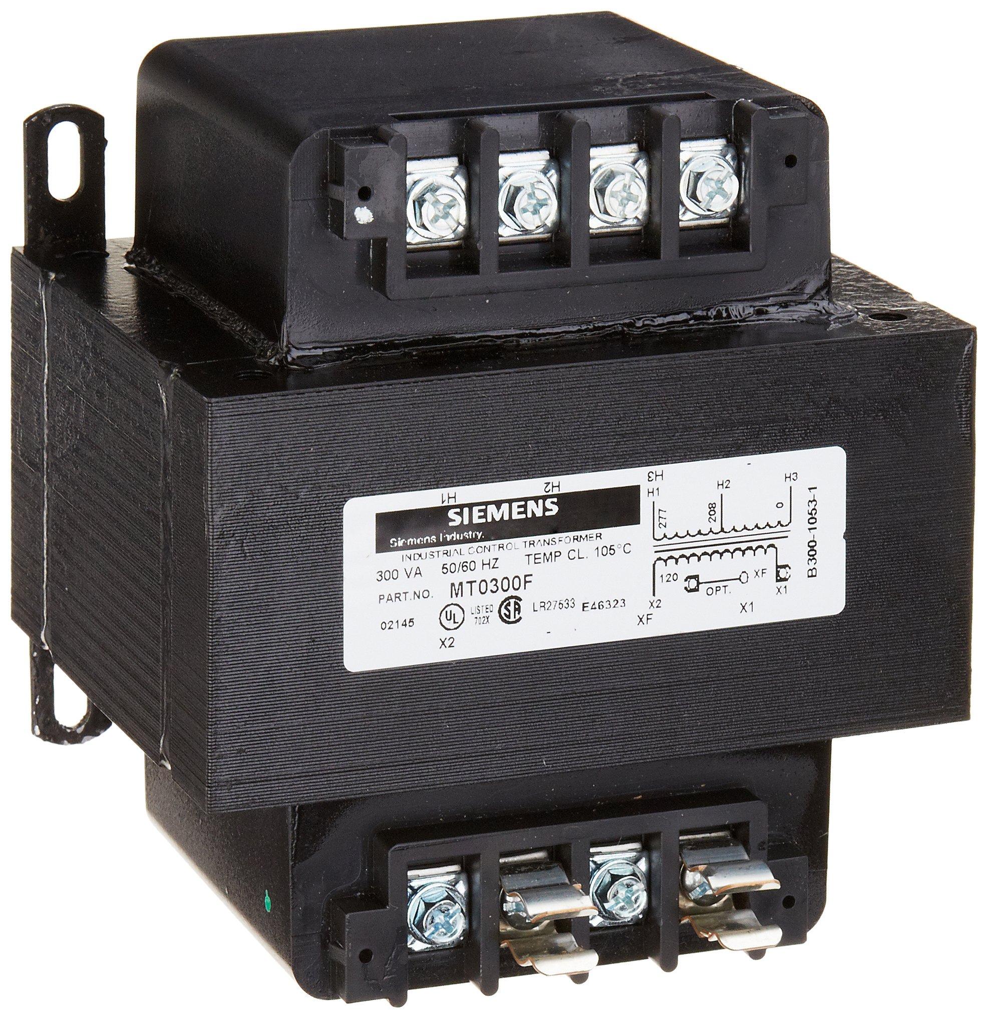 Siemens MTG0100J Industrial Power Transformer, International, 208/230/460,200/220/440,240/480 Primary Volts 50/60Hz, 24 X 115,23 X 110,25 X 120 Secondary Volts, 100VA Rating