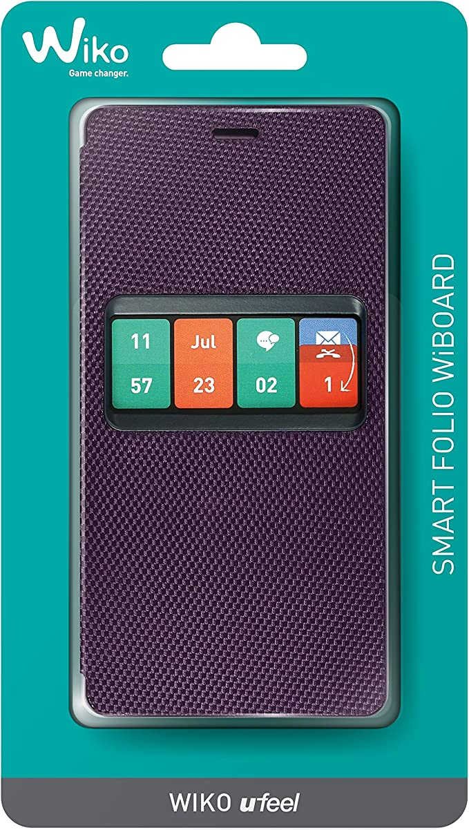 Wiko Wiboard Coque Smart Folio U'Feel Violet
