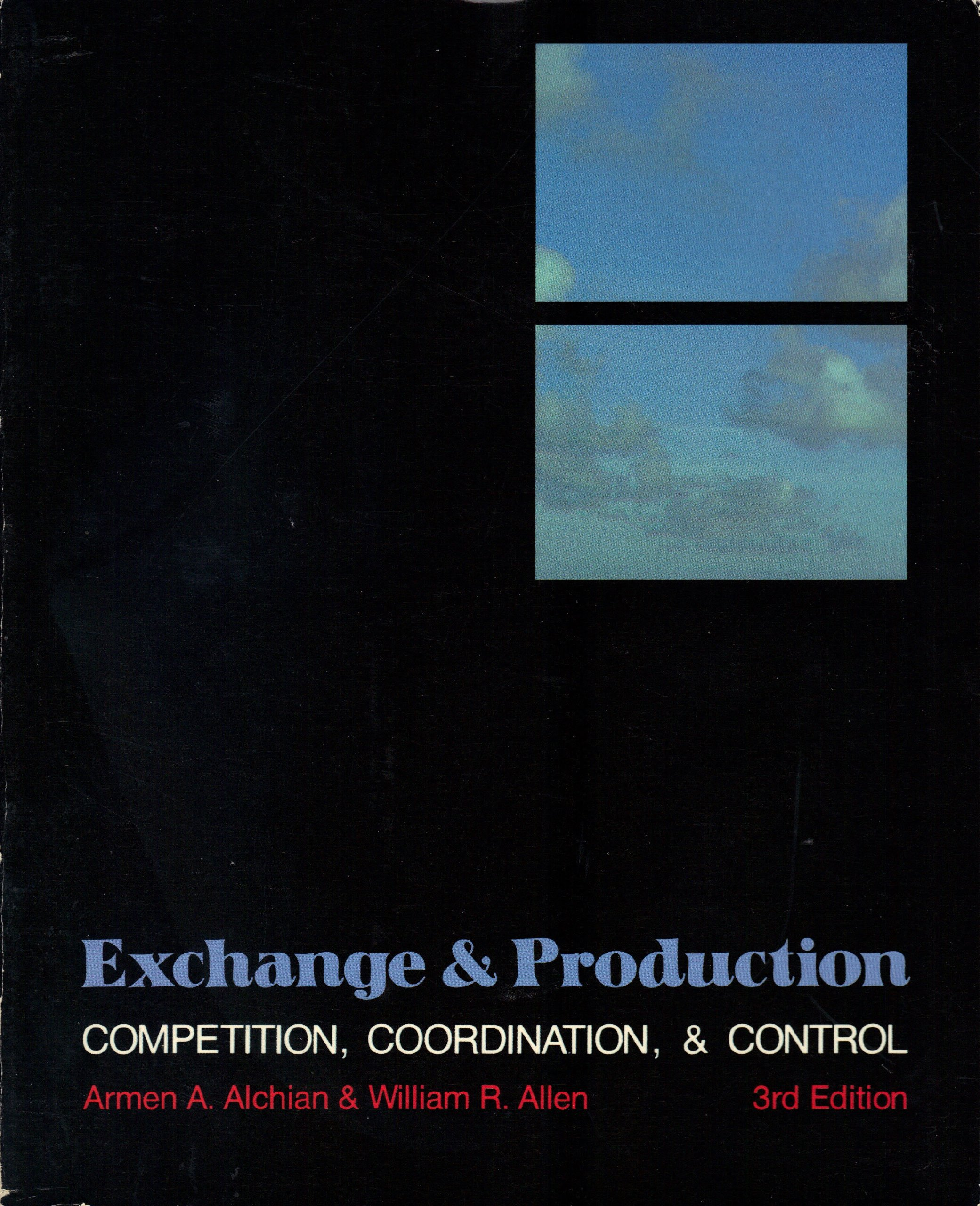 Exchange And Production Competition Coordination And Control
