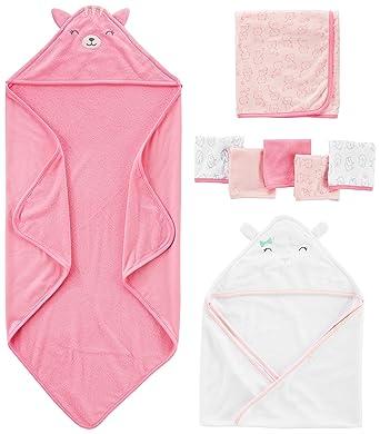 35b3a8bca Amazon.com  Simple Joys by Carter s Baby Girls  8-Piece Towel and ...