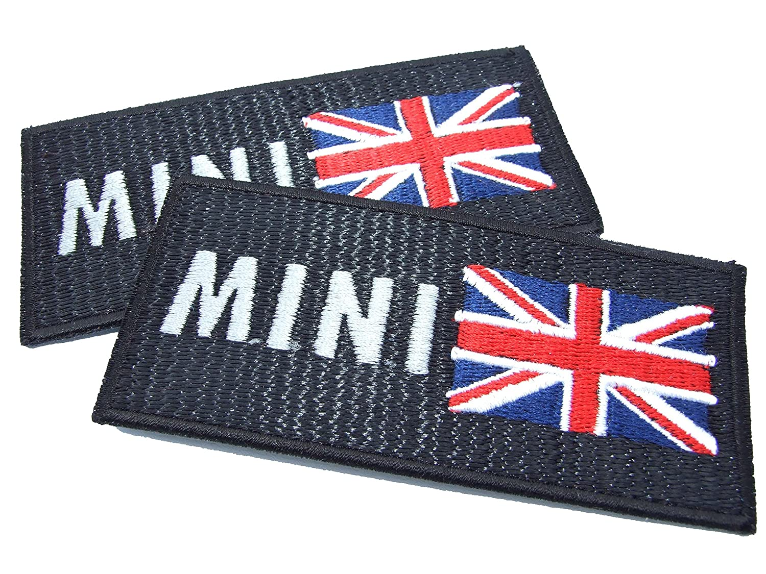 Mini & bandiera inglese, toppa con effetto ottico lock-stitch – 2 off