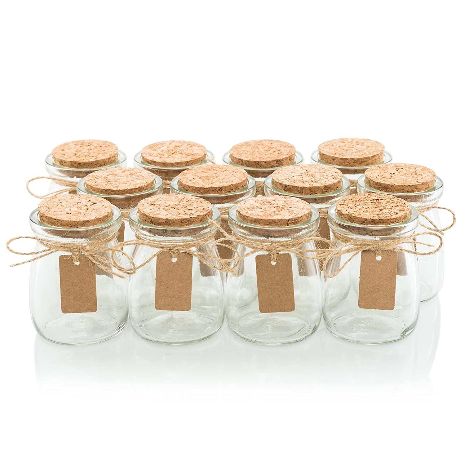 Amazon.com: Glass Favor Jars With Cork Lids - Mason Jar Wedding ...