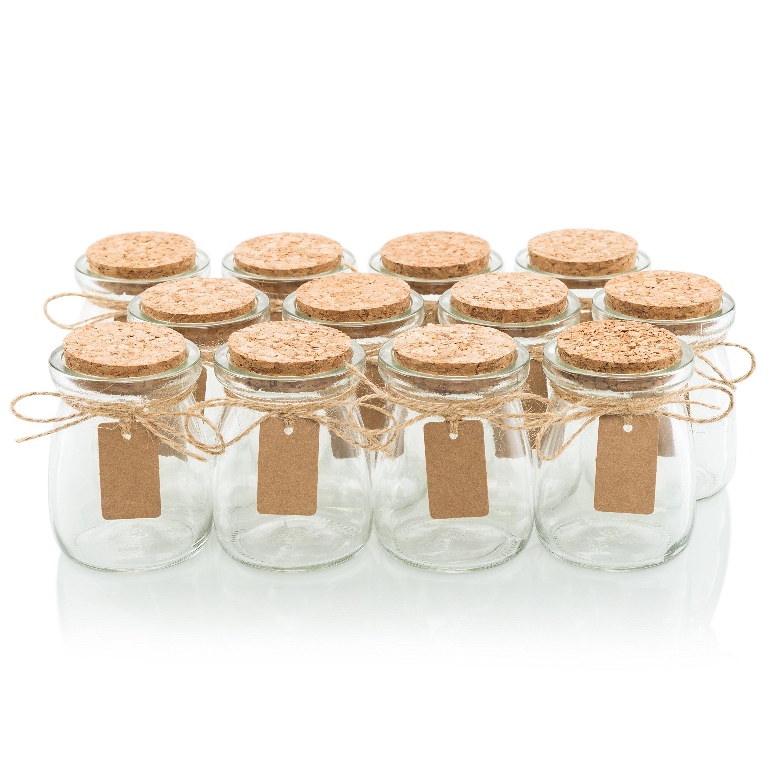 kate aspen square glass favor jar with cork stopper petite treat 12 count. Black Bedroom Furniture Sets. Home Design Ideas